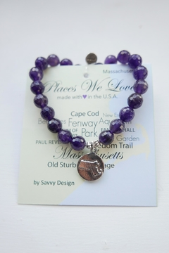 Savvy Designs Massachusetts Charm Bracelet(amethyst) - Alternate List Image
