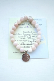 Savvy Designs Massachusetts Charm Bracelet(rosequartz) - Product Mini Image
