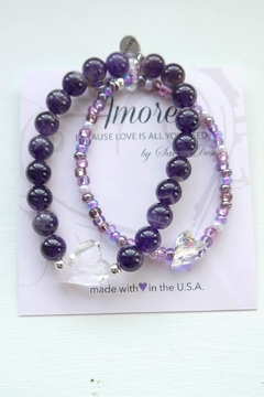 Savvy Designs Mommy&Me Bracelet Set(amethyst) - Product List Image