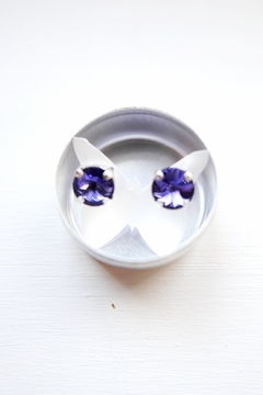 Savvy Designs Purple Post Earrings - Product List Image