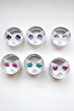 Savvy Designs Purple Post Earrings - Alternate List Image