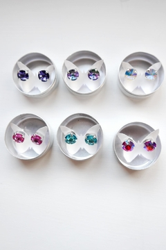 Savvy Designs Sparkle Blue Post-Earrings - Alternate List Image