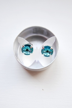 Savvy Designs Sparkle Blue Post-Earrings - Product List Image