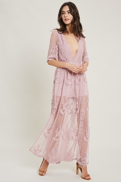 Wishlist Saw Dust & Lace Dress - Product List Image