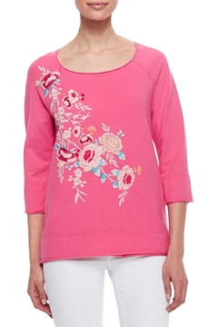 Johnny Was Collection Sawyer Embroidered Sweatshirt - Product List Image