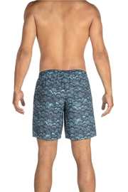 Saxx Cannonball Grey Fishscales - Front full body