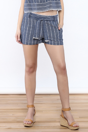Saylor Cotton Stripe Shorts - Front cropped
