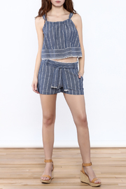 Saylor Cotton Stripe Shorts - Front full body