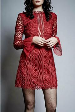 Shoptiques Product: Red Long Sleeve Dress