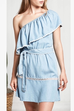 Saylor Denim One Shoulder Dress - Alternate List Image