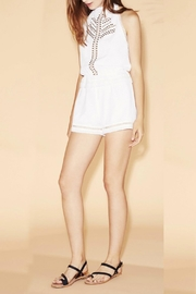 Saylor White Paisley Romper - Front cropped