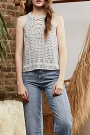 Saylor Tie Top - Front cropped