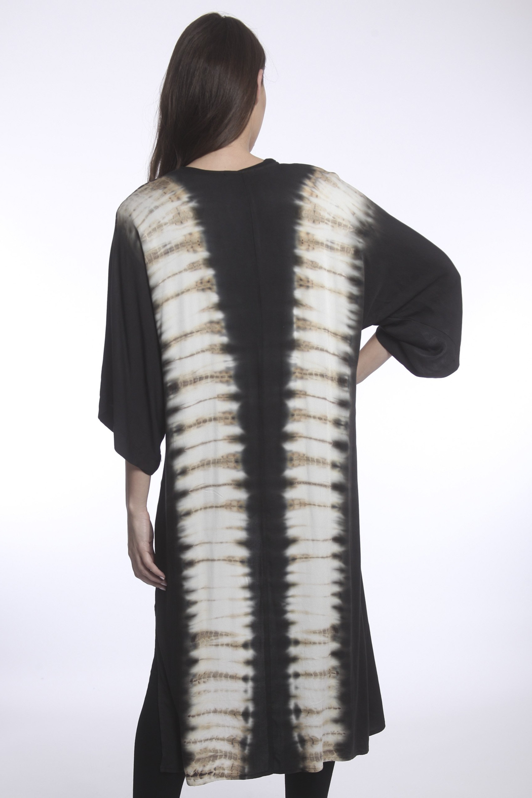 RIVER AND SKY Sayulita Tie Dye Panel Duster - Back Cropped Image