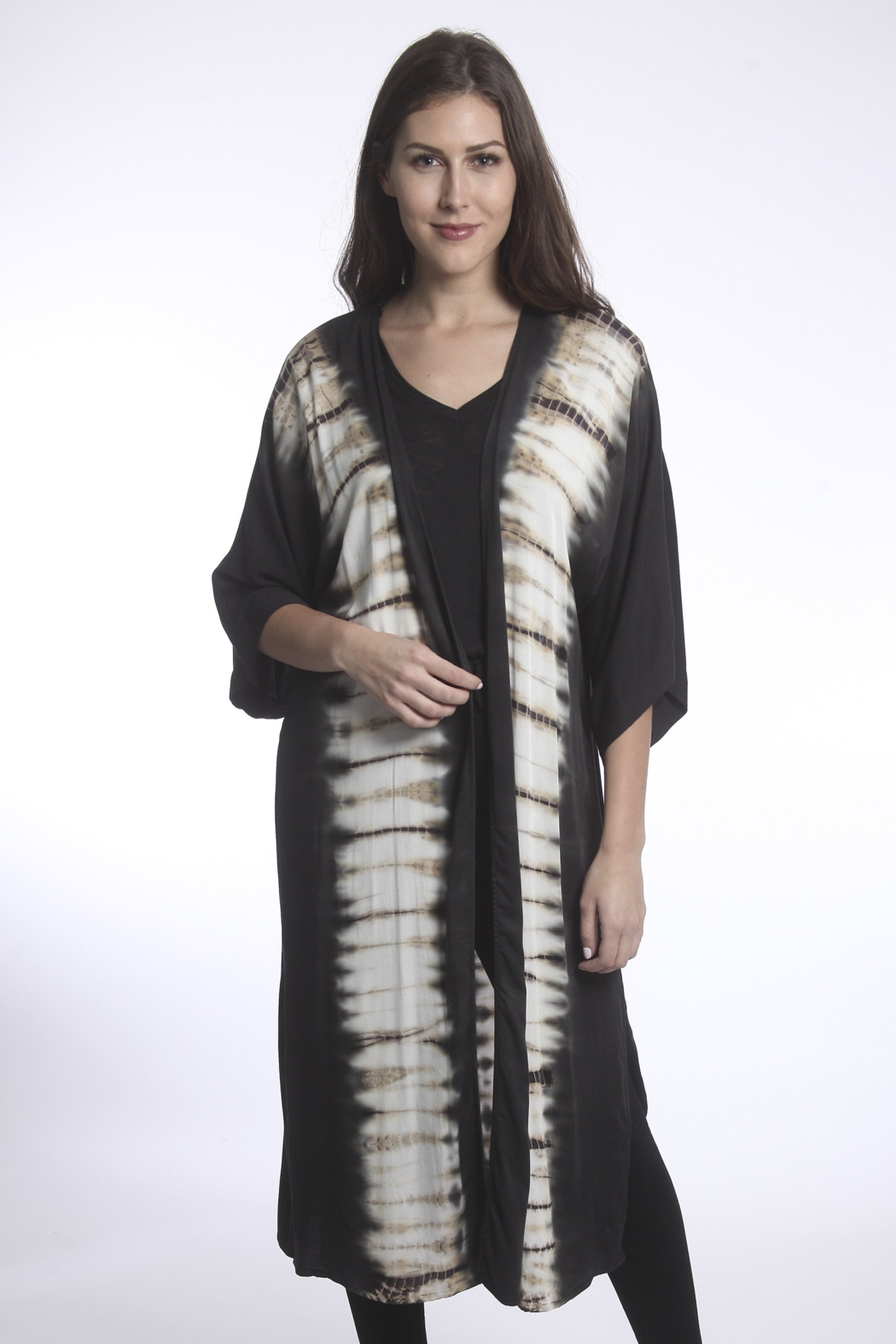 RIVER AND SKY Sayulita Tie Dye Panel Duster - Front Full Image