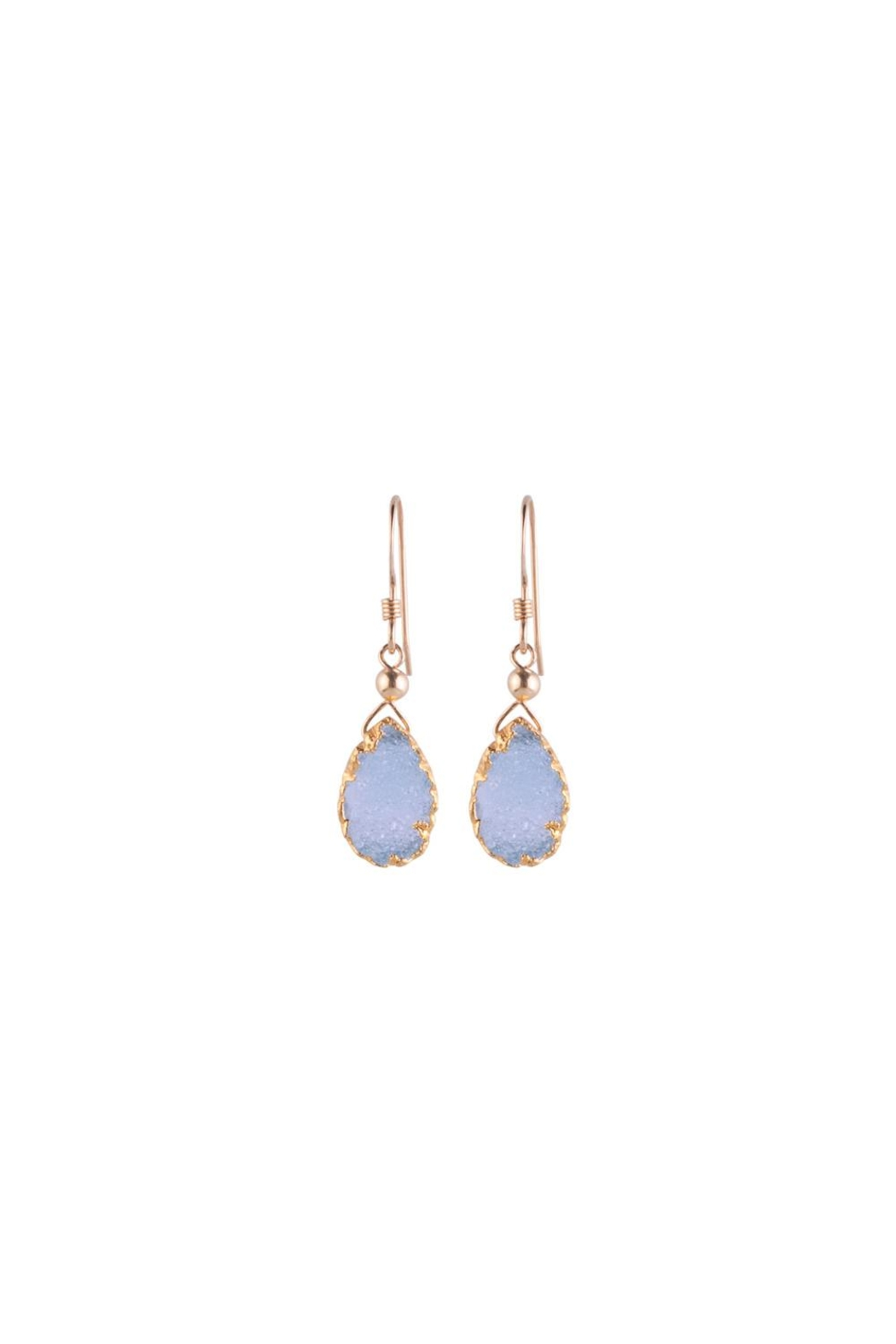 Sayulita Sol Jewelry Almond Blue-Druzy Earrings - Main Image