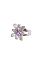 Sayulita Sol Jewelry Amethyst-Labradorite Flower Ring - Product Mini Image