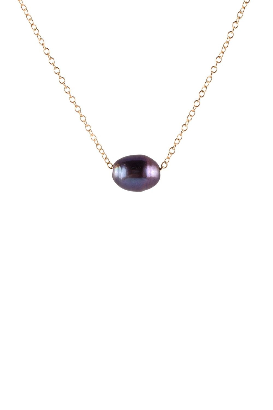 Sayulita Sol Jewelry Black-Pearl Gold Necklace - Main Image