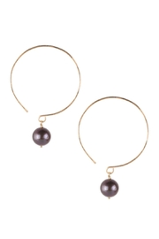 Sayulita Sol Jewelry Black-Pearl Hoop Earrings - Product Mini Image