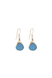 Sayulita Sol Jewelry Blue-Pear Druzy Earrings - Product Mini Image