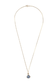 Sayulita Sol Jewelry Gold-Blue Natural Druzy - Front full body