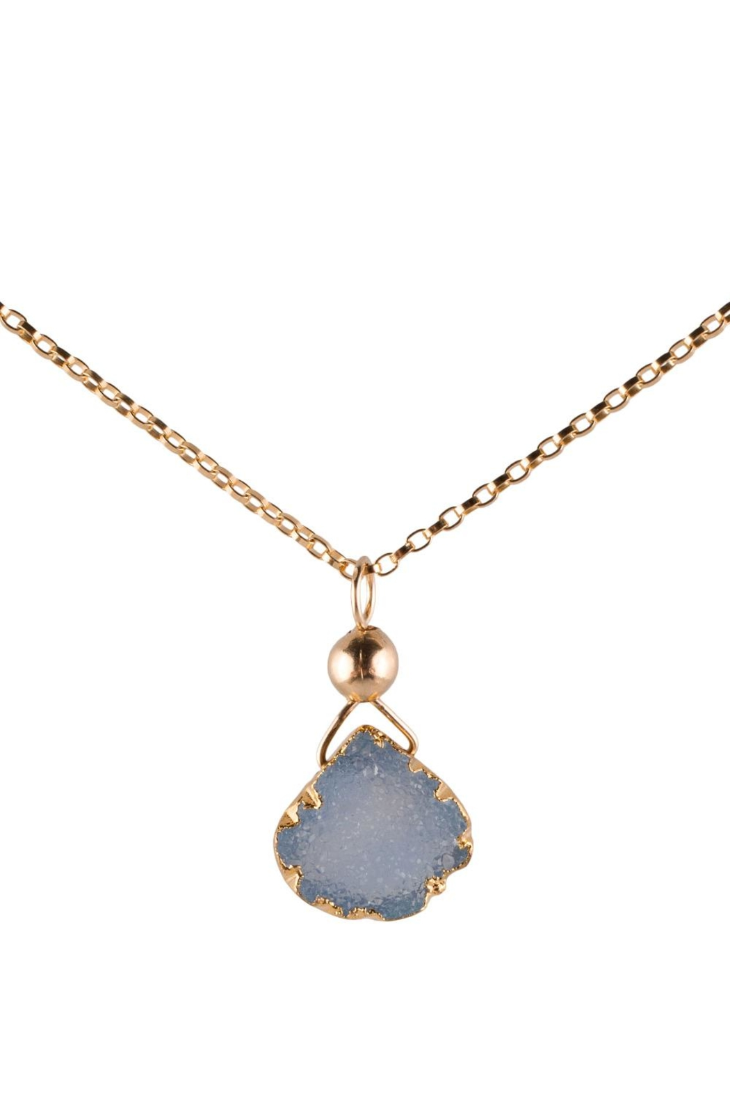Sayulita Sol Jewelry Gold-Blue Natural Druzy - Main Image