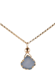 Sayulita Sol Jewelry Gold-Blue Natural Druzy - Front cropped