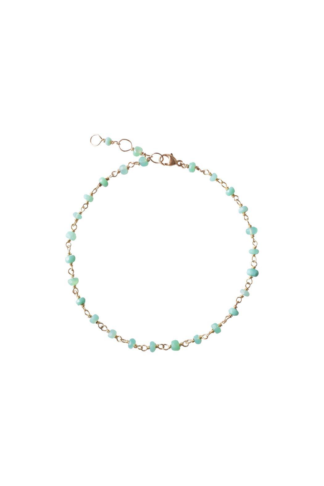 Sayulita Sol Jewelry Gold Chrysoprase Anklet - Main Image