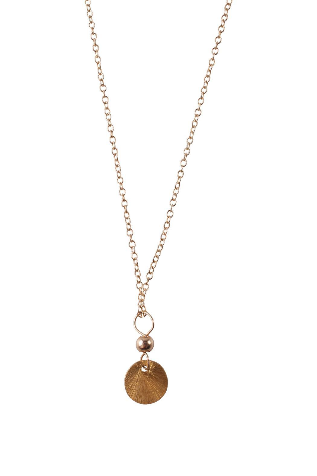 Sayulita sol jewelry gold disc pendant from mexico shoptiques sayulita sol jewelry gold disc pendant front cropped image aloadofball Choice Image