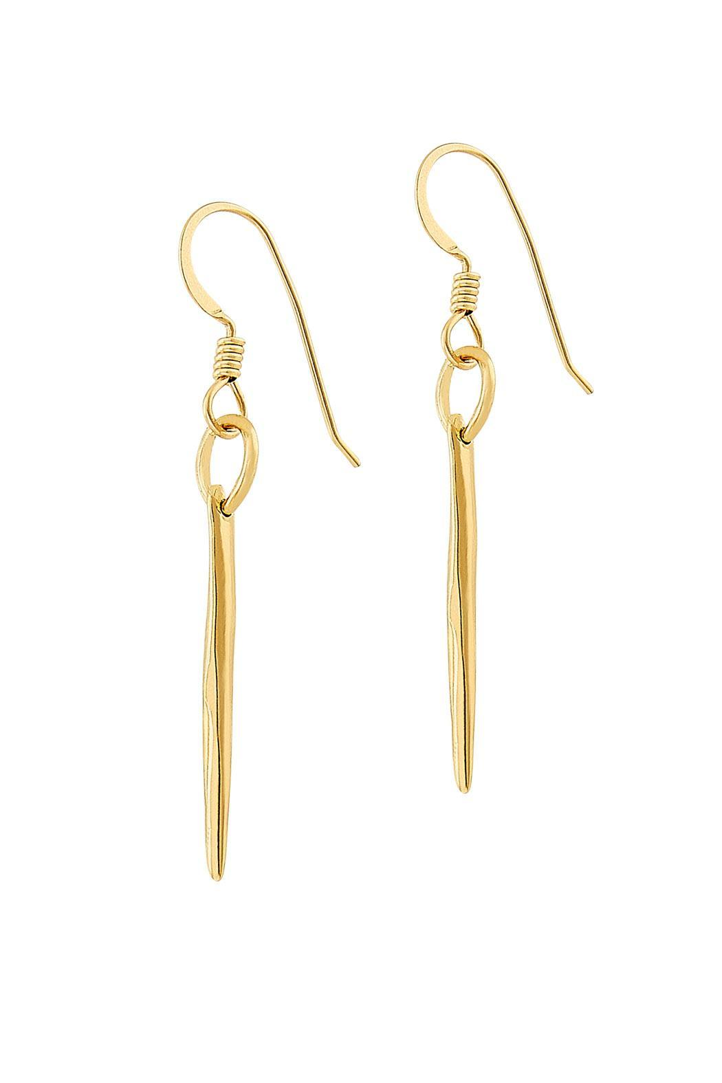 Sayulita Sol Jewelry Gold Quill Earrings - Main Image