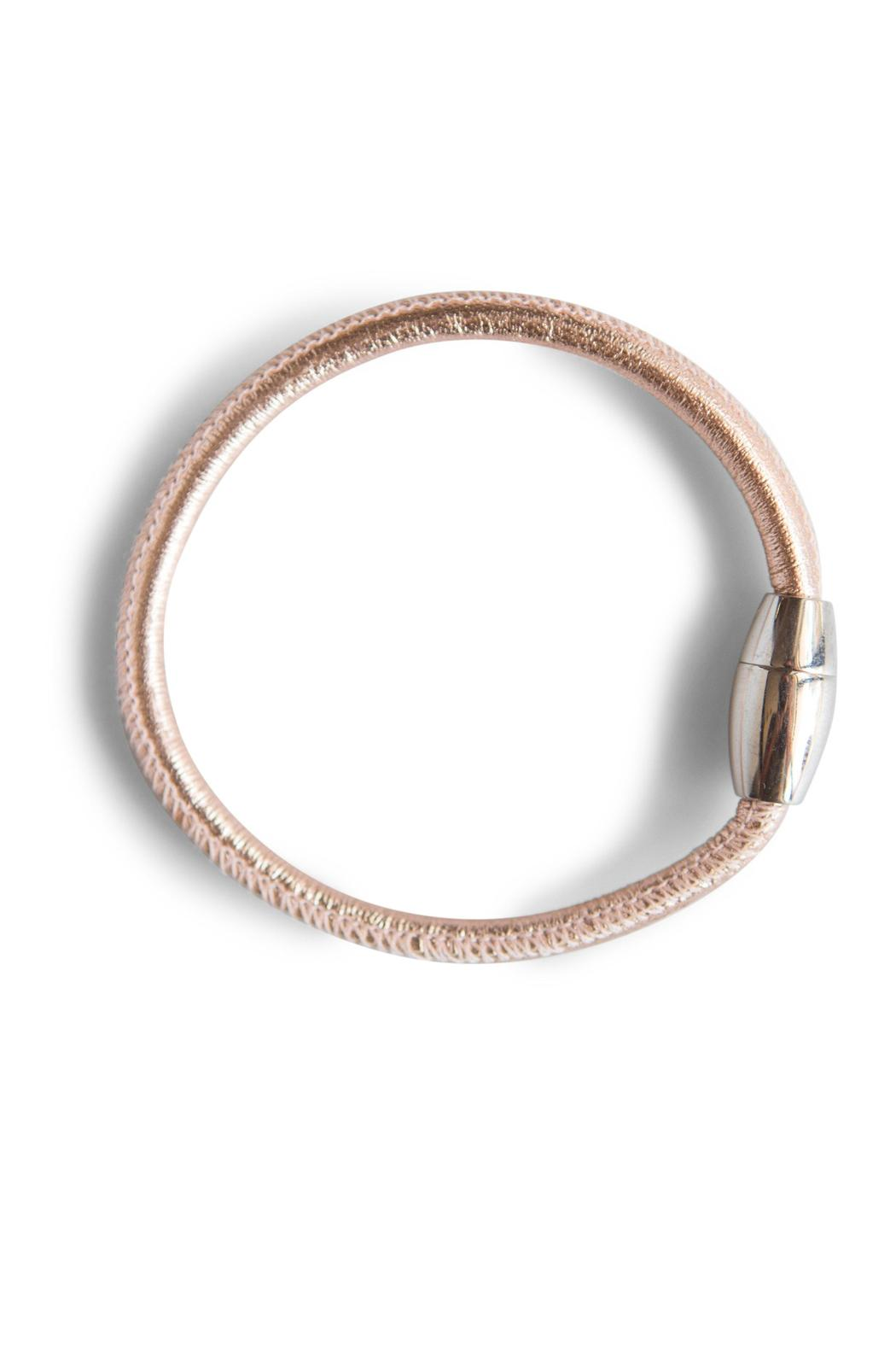 Sayulita Sol Jewelry Italian Leather Bracelet - Front Cropped Image