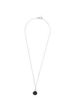 Sayulita Sol Jewelry Silver Black Druzy Pendant - Product List Image