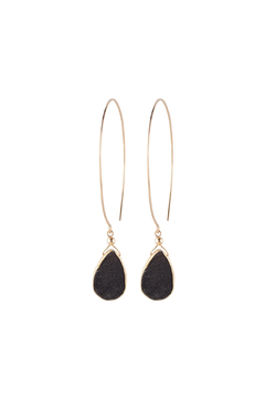 Shoptiques Product: Kelly Black Druzy Hoops