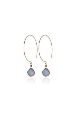 Shoptiques Product: Kelly Blue Druzy Hoops