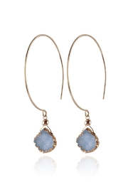 Sayulita Sol Jewelry Kelly Blue-Druzy Hoops - Product Mini Image