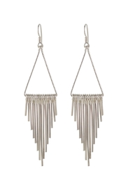 Sayulita Sol Jewelry Minimal Fringe Silver-Earrings - Front cropped