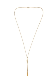 Sayulita Sol Jewelry Opal Gold Pendant - Front full body