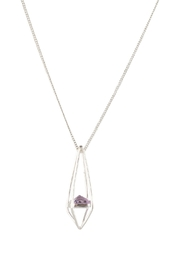 Sayulita Sol Jewelry Pyramid Lavender-Amethyst Pendant - Front cropped