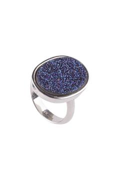 Shoptiques Product: Silver Blue Druzy Ring