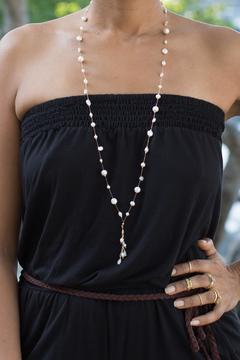 Shoptiques Product: Sirena Black Pearl Necklace