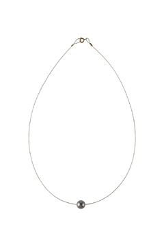 Sayulita Sol Jewelry Swarovski Grey Pearl Necklace - Alternate List Image