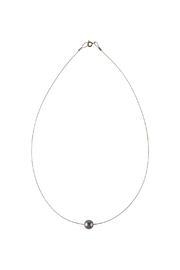 Sayulita Sol Jewelry Swarovski Grey Pearl Necklace - Product Mini Image