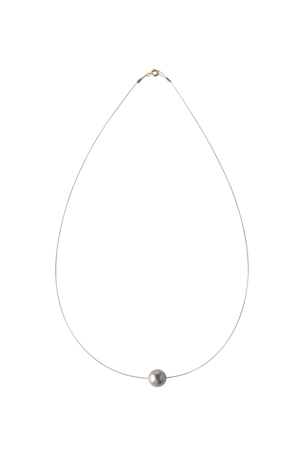 Sayulita Sol Jewelry Swarovski Grey Pearl Necklace - Front Cropped Image