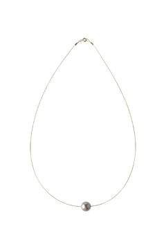 Shoptiques Product: Swarovski Grey Pearl Necklace