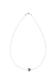 Sayulita Sol Jewelry Swarovski Grey Pearl Necklace - Front cropped