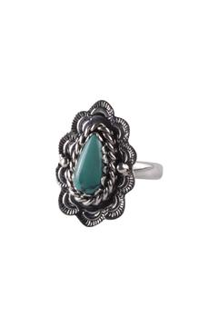 Shoptiques Product: Vintage Turquoise Silver Ring