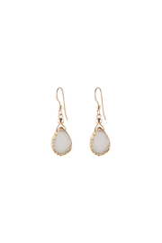 Sayulita Sol Jewelry White-Almond Druzy Earrings - Product Mini Image