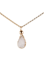Sayulita Sol Jewelry White-Almond Druzy Pendant - Product Mini Image