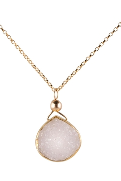 Sayulita Sol Jewelry Gold White-Druzy Pendant - Product List Image