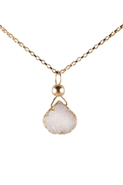 Sayulita Sol Jewelry White Druzy Gold-Pendant - Product Mini Image