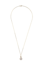 Sayulita Sol Jewelry White Druzy Gold-Pendant - Front full body